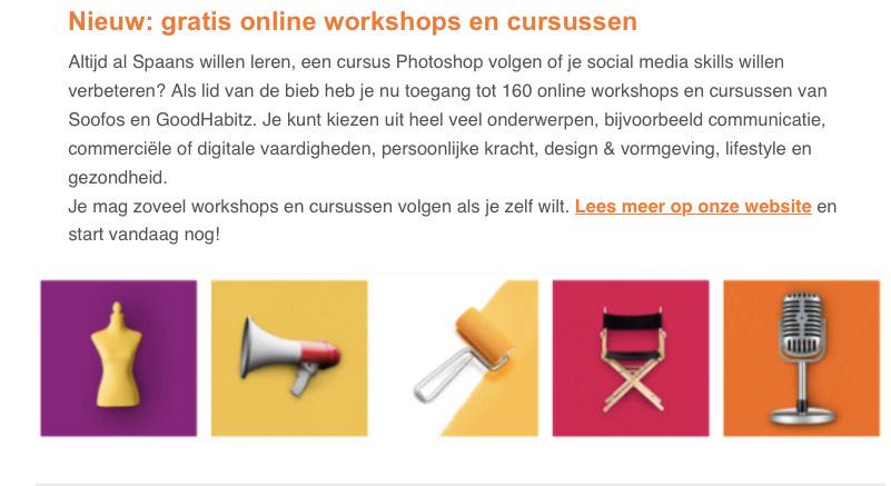 Gratis cursussen voor leden van de Bibliotheek Utrecht