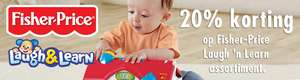20% korting op Fisher-Price Laugh 'n Learn + 15% extra korting @ Bart Smit
