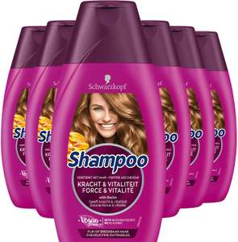 Schwarzkopf Kracht & Vitaliteit Shampoo 250ml , 6 stuks