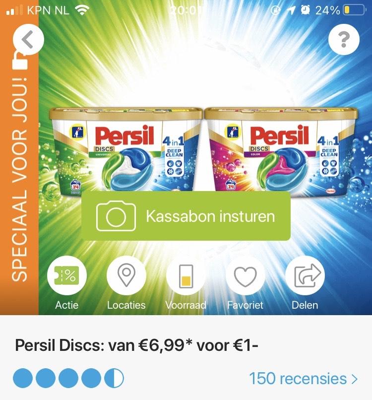 [Persoonlijk] Persil Discs 1 euro via Scoupy