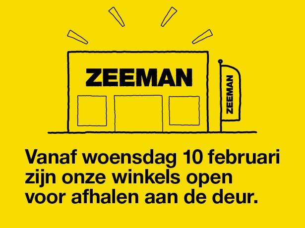 Vanaf woensdag 10 februari click en collect bij Zeeman
