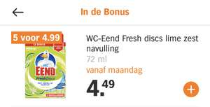 WC Eend Fresh Discs Lime navulling
