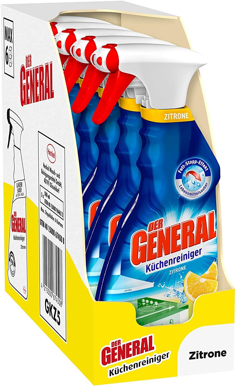De General keukenreiniger 5 flessen van 500ml [gratis verzending voor prime leden!]