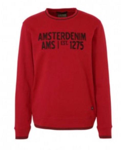 Amsterdenim heren Sweater rood