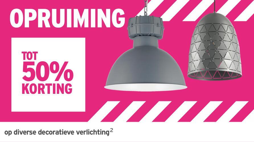 35% of 50% korting op decoratieve verlichting @ Gamma