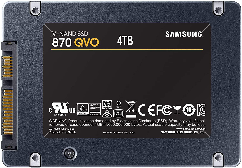 Samsung 870 QVO 4TB SSD @Amazon DE