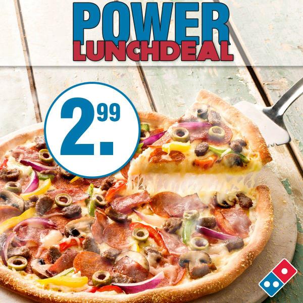 Vrijdag 05-02: Medium Pizza voor €2,99 @Domino's Sneek
