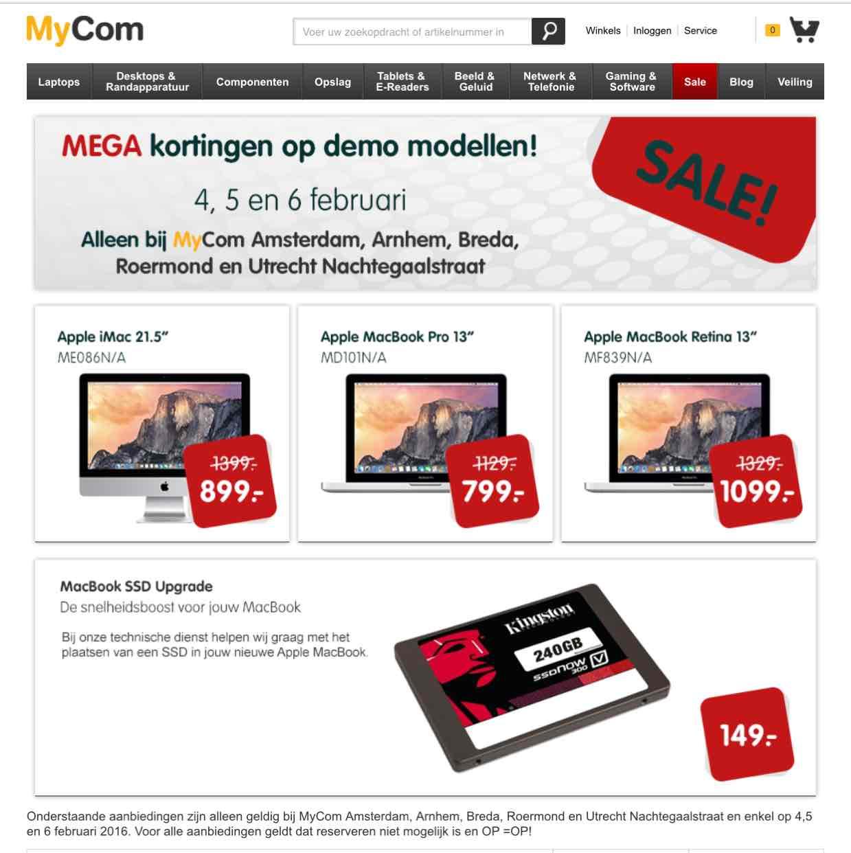 Mega Sale bij MyCom