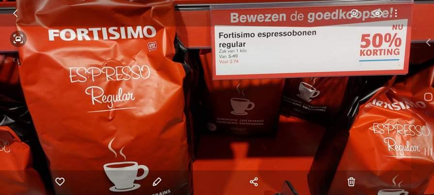 FORTISIMO Espressobonen - HOOGVLIET Supermarkt