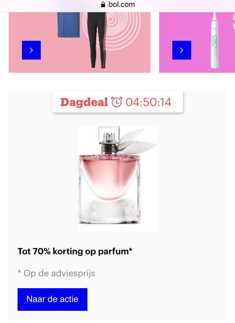 Tot 70% korting Parfum BOL.COM dagdeal
