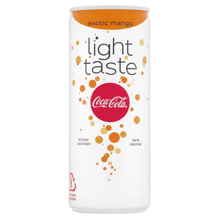 12 * 250ml Coca-Cola Light Exotic Mango €2 @ Die Grenze (72% korting)