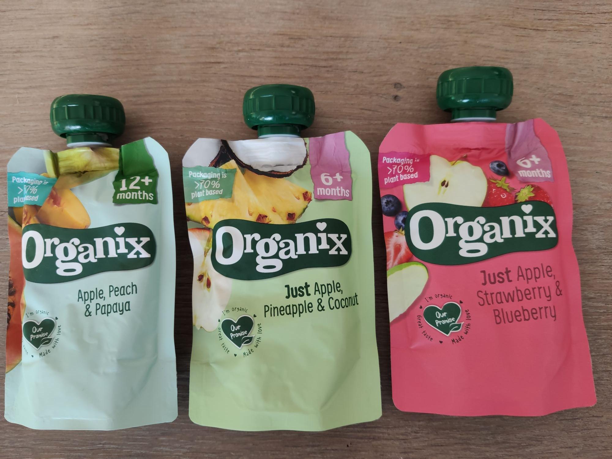 Organix knijpfruit bij Die Grenze