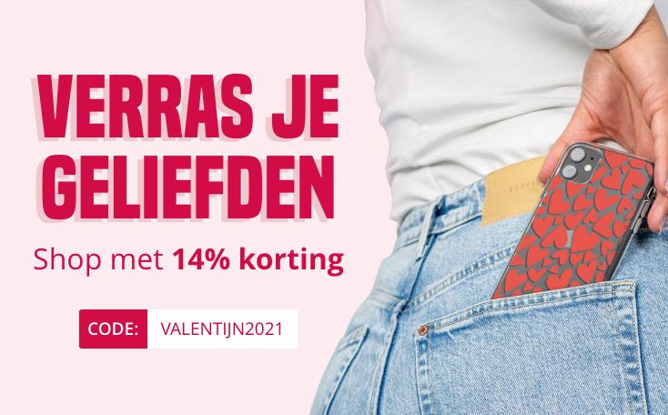 14% korting op het hele assortiment van Smartphonehoesjes.nl
