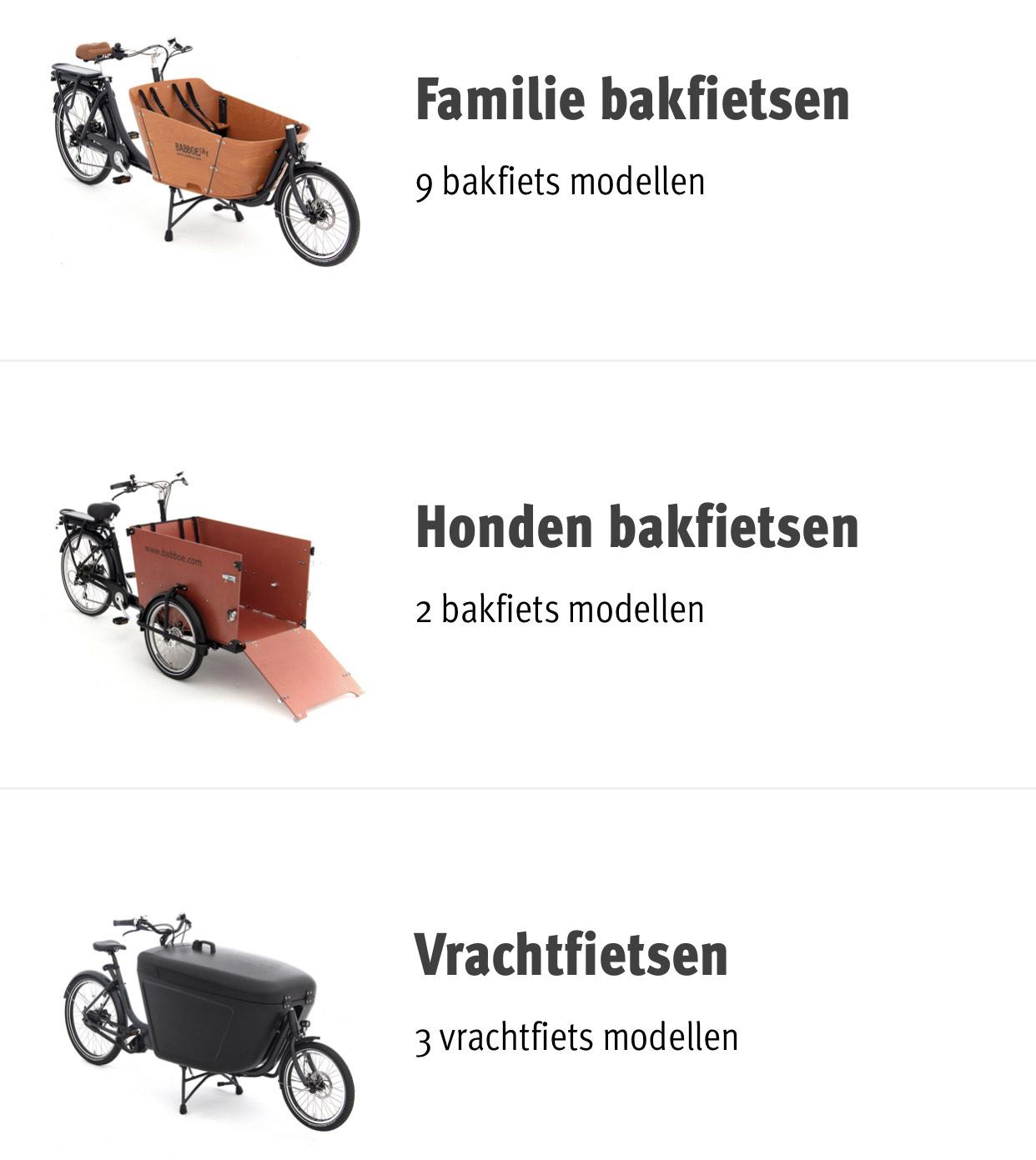 €150 korting op nieuwe Babboe bakfiets