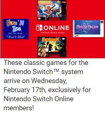 Vanaf 17 februari: 3 nieuwe SNES & 1 nieuwe NES titel @ Nintendo Switch Online