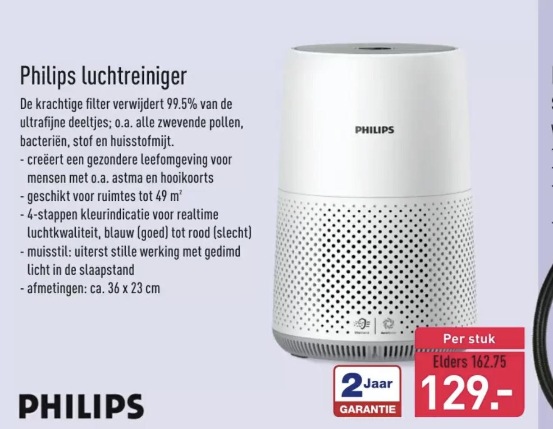 Philips luchtreiniger AC0830/10 Wit in de aanbieding bij Aldi