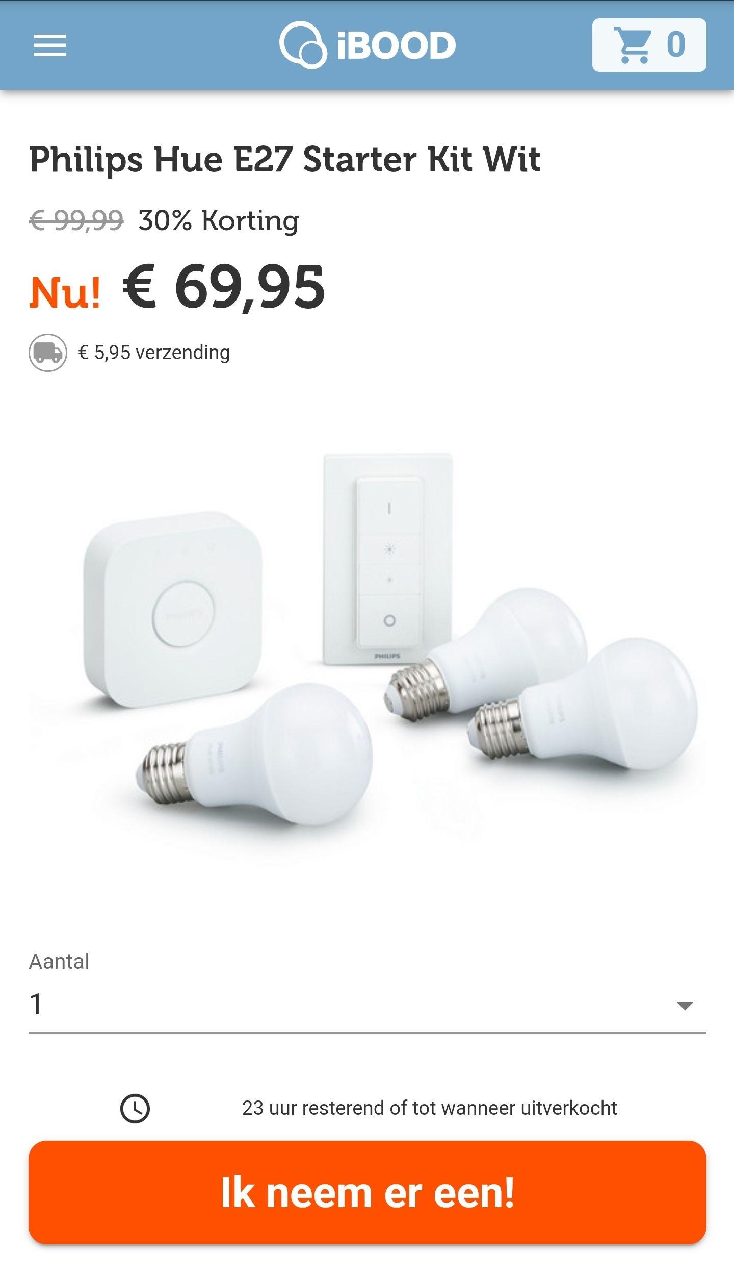 Philips Hue E27 Starter Kit Wit