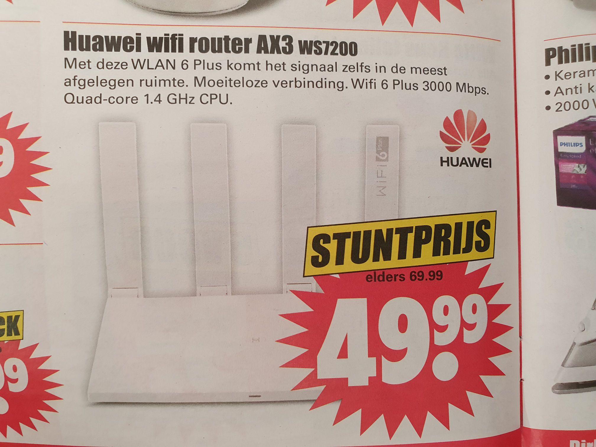 Huawei ax3 pro wifi 6 router bij Dirk