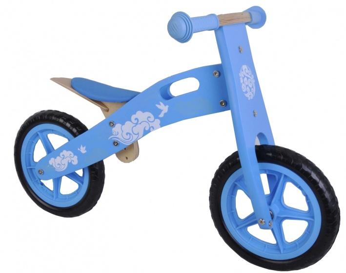 Yipeeh houten loopfiets 12 Inch Lichtblauw