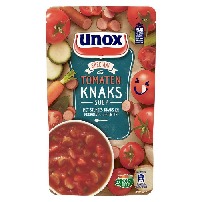 2 zakken Unox Tomatensoep met Knaks €1 @ Die Grenze (84% korting)