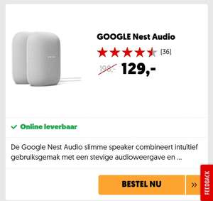 Google nest audio Chalk-white 2-pack