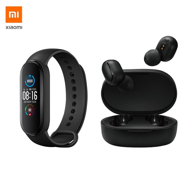 Xiaomi Mi Band 5 + Mi Earbuds Basic 2
