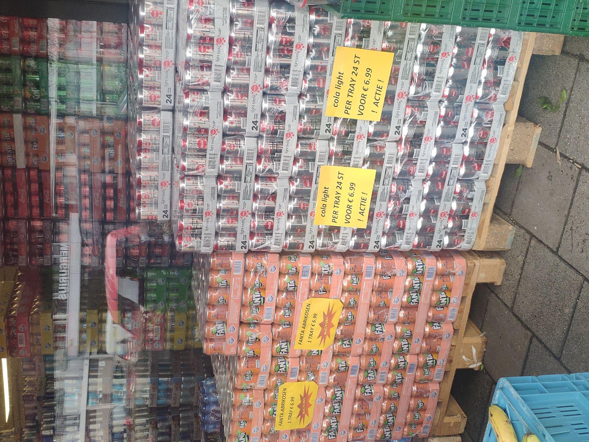 [lokaal VEENENDAAL] Supermarkt Birlik Coca cola light & Fanta Abrikozen