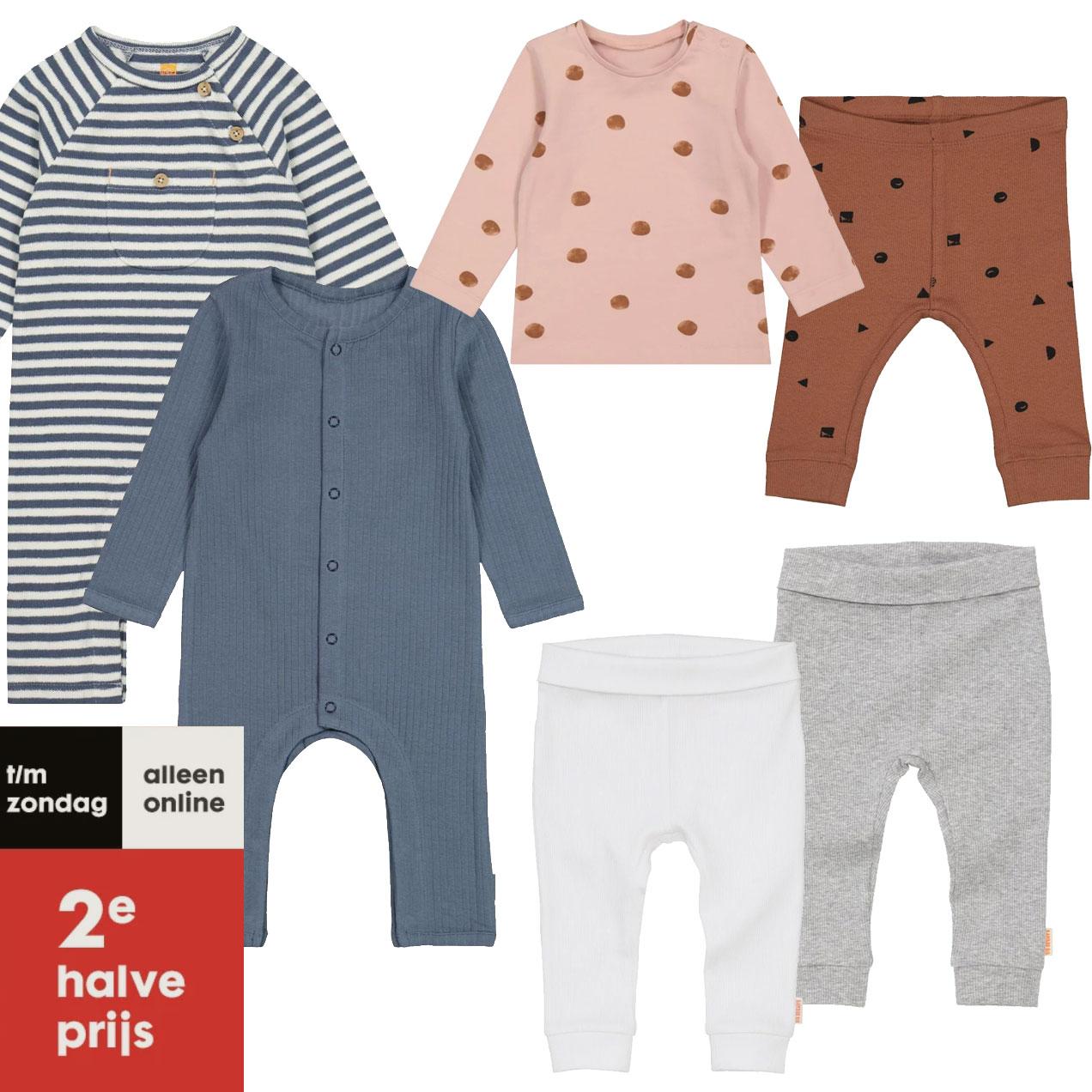 Babykleding: 2e halve prijs // 3 broekjes voor €15 @ HEMA