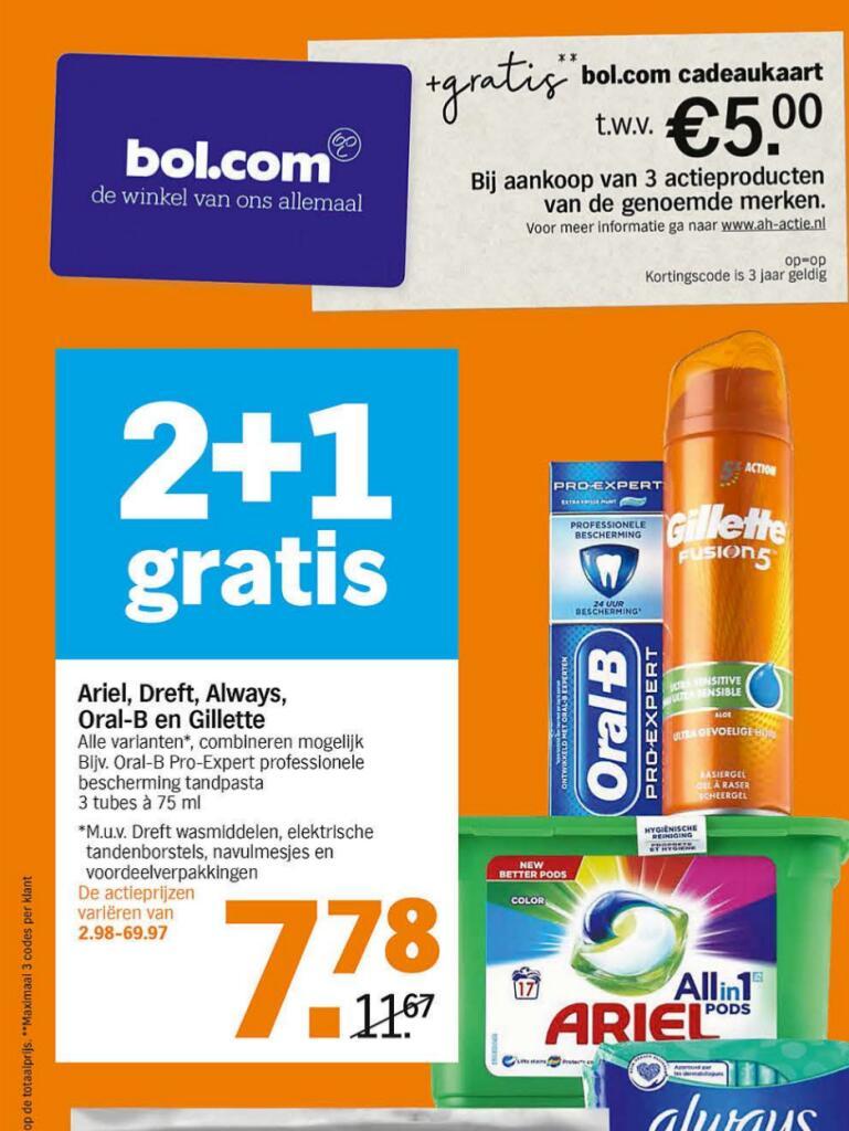 Gratis Bol cadeaukaart bij geselecteerde producten @ Albert Heijn