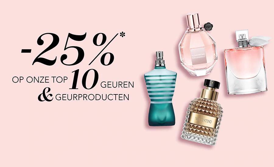 25% korting op de top 10 geuren & geurproducten bij Douglas