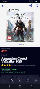 Assasin's Creed Valhalla PS5 (€42,99 met select)