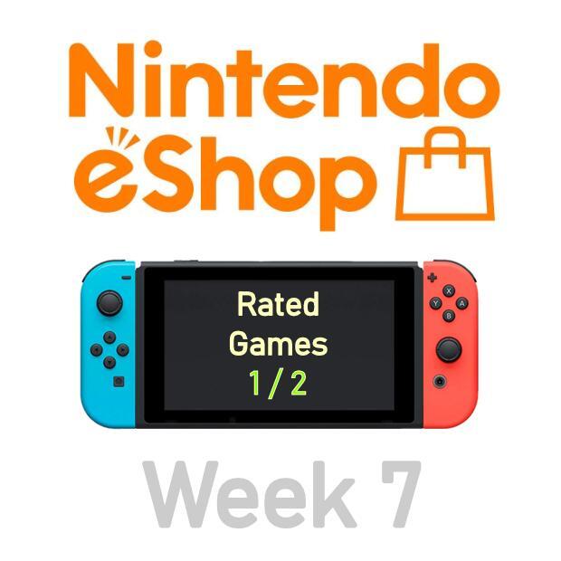 Nintendo Switch eShop aanbiedingen 2021 week 7 (deel 1/4) games met Metacritic score (deel 1/2)