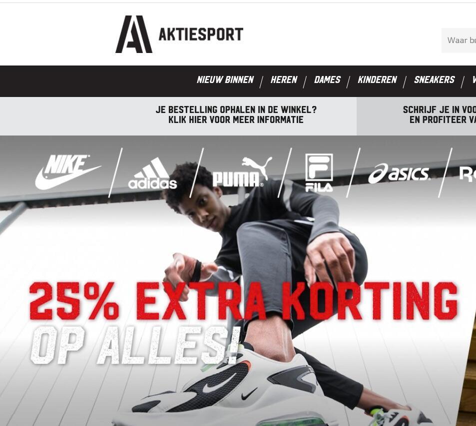 Aktiesport 25% korting op ALLES!