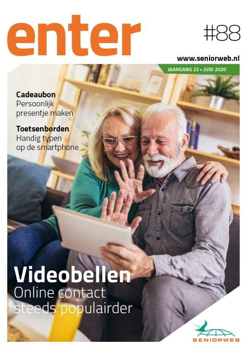 Maak gratis kennis met het fysieke blad ENTER (#88) van SeniorWeb