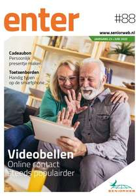 Maak gratis kennis met het fysieke blad ENTER #̶8̶8̶ ̶#̶8̶9̶ #90 van SeniorWeb