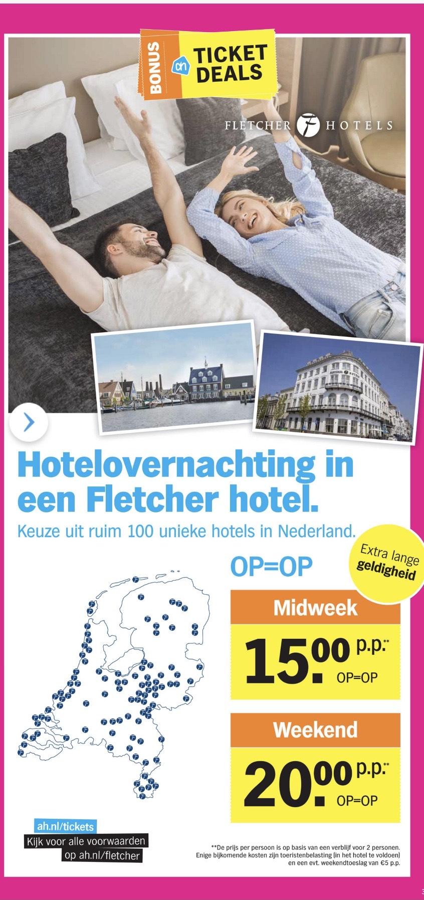 Hotelovernachting in een Fletcherhotel (geldig tot 31/12/21)