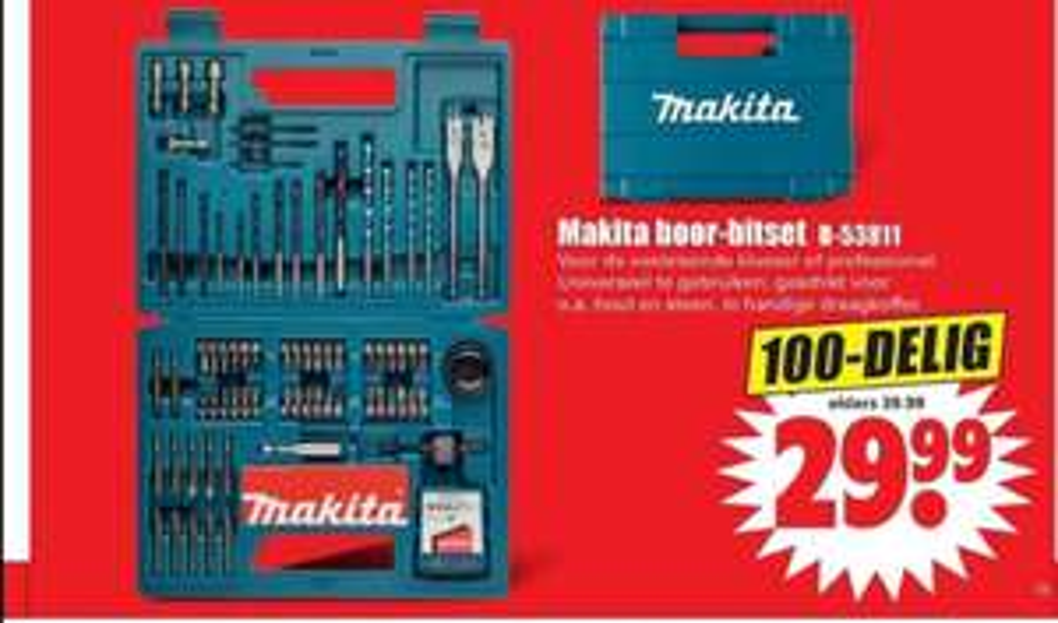 Makita Boor-Bitset B-53811 100-delig