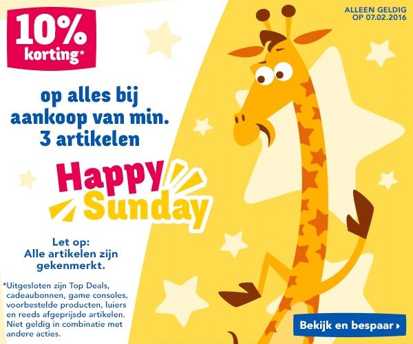Alleen vandaag  Happy Sunday met 10% korting op min. 3 artikelen @ Toysrus