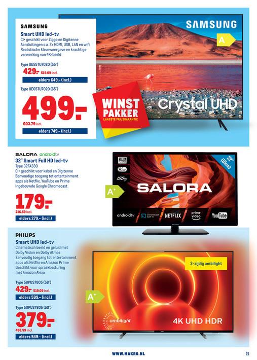 Samsung 4K TV UE65TU7020 (65 inch, 60 Hz, prijs incl. BTW)