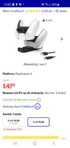 Playstation 5 (PS5) Controller Laadstation - Inclusief USB-Kabel
