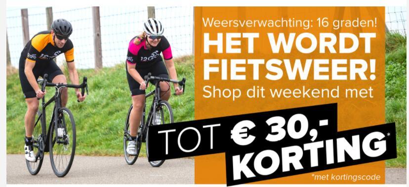 €12,50 korting bij 100 euro , €30,- korting bij besteding van € 200,- @ 12GO Biking