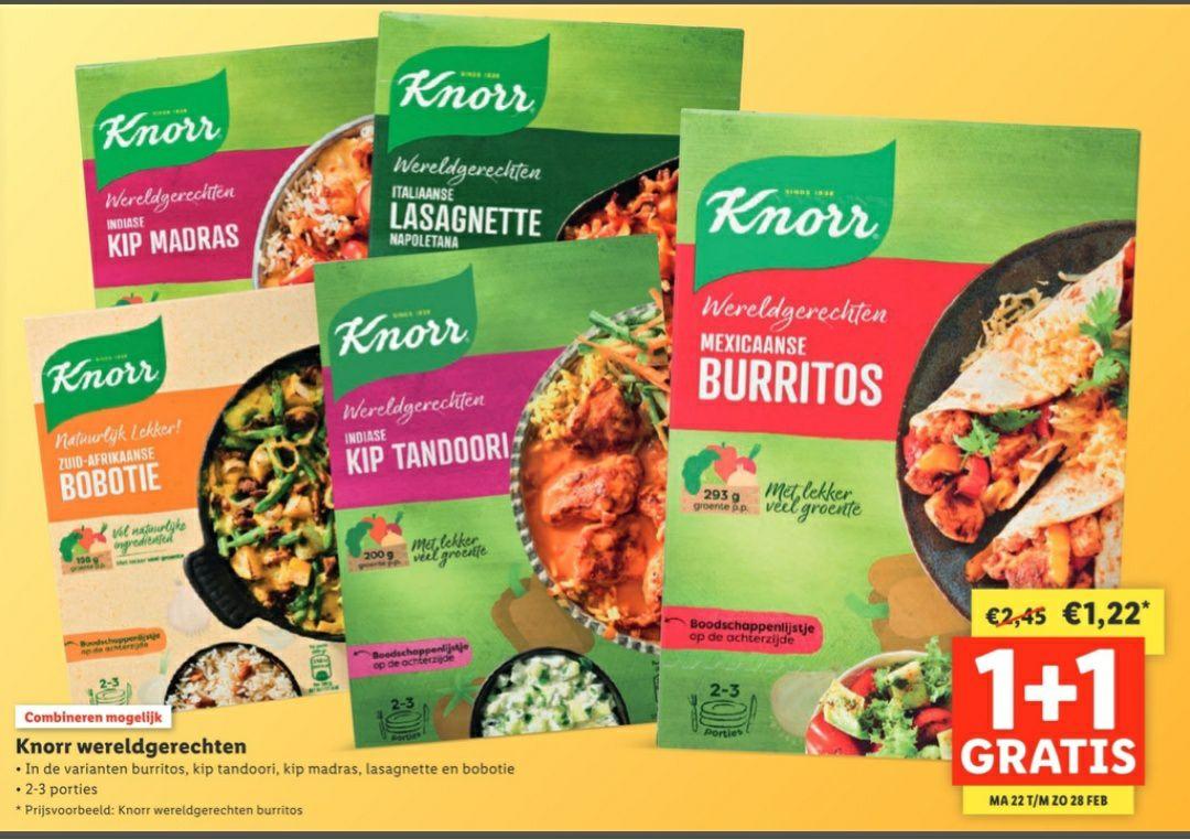 Knorr Wereldgerechten 1+1 gratis