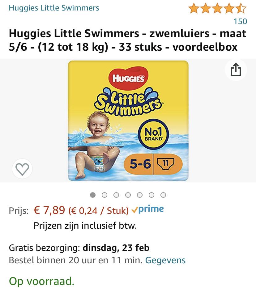 Huggies Little Swimmers - zwemluiers - maat 5/6 - (12 tot 18 kg) - 33 stuks - voordeelbox