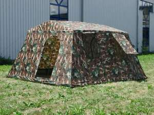 Mil-Tec 6 persoons tent - kleur: Woodland (340x310x180 cm) @ Amazon.nl