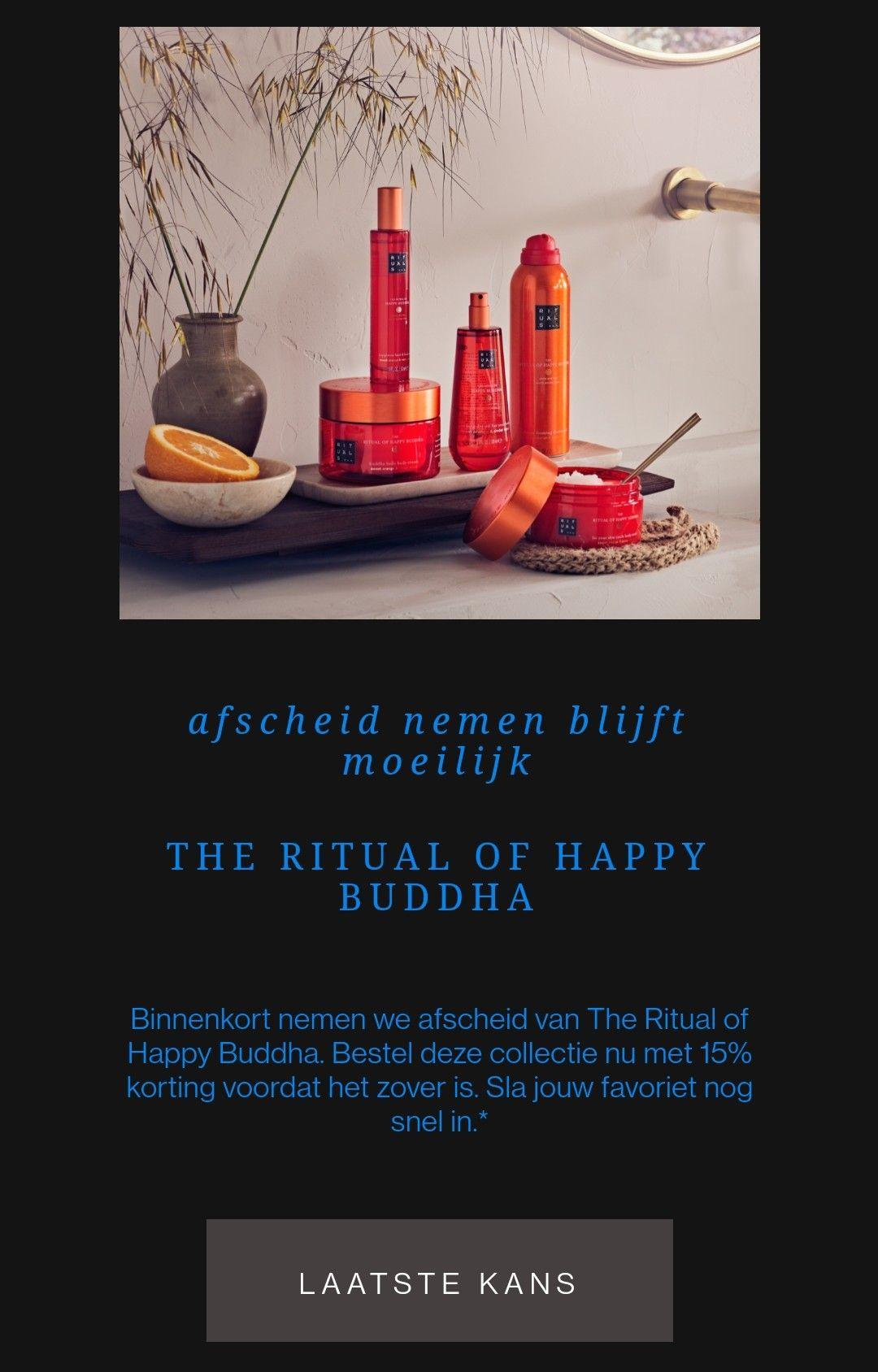 15% korting op Ritual of Happy Buddha assortiment
