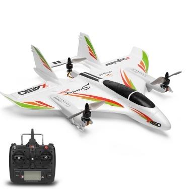 WLtoys XK X450 Vertical Takeoff RC vliegtuig voor €76,49 @ Tomtop