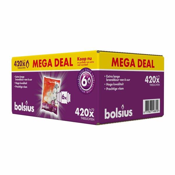 Bolsius theelichten grootverpakking 420 stuks