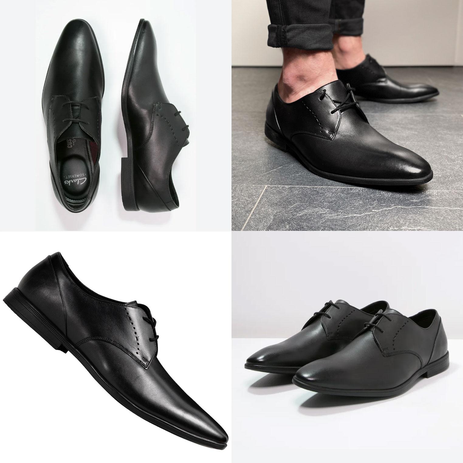 Clarks Bampton leren heren schoenen