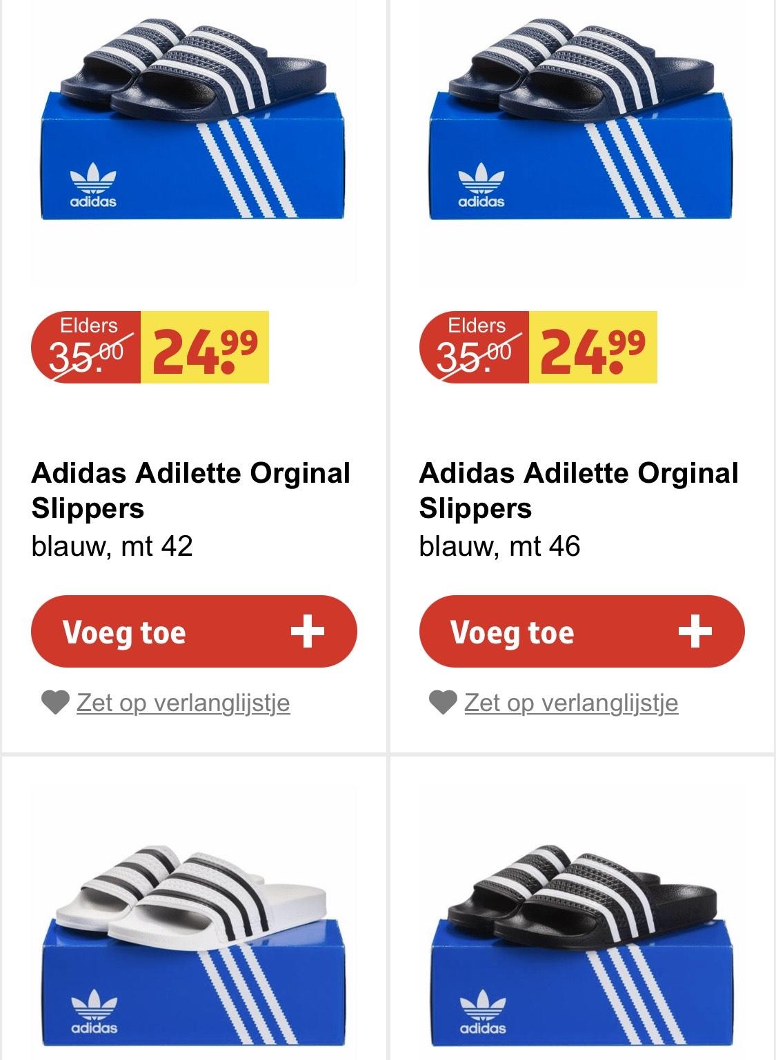 Adidas slippers (3 kleuren)