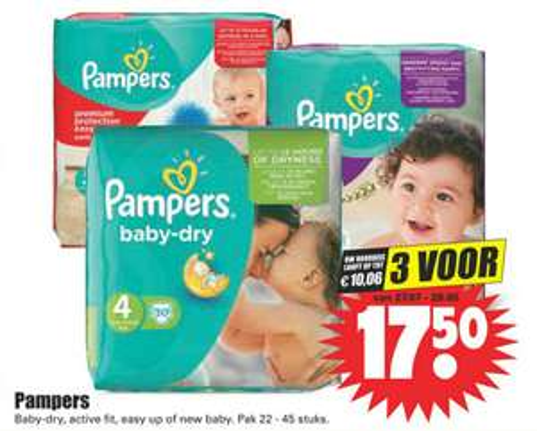 Pampers (voordeel tot €10,06!) @ DIRK